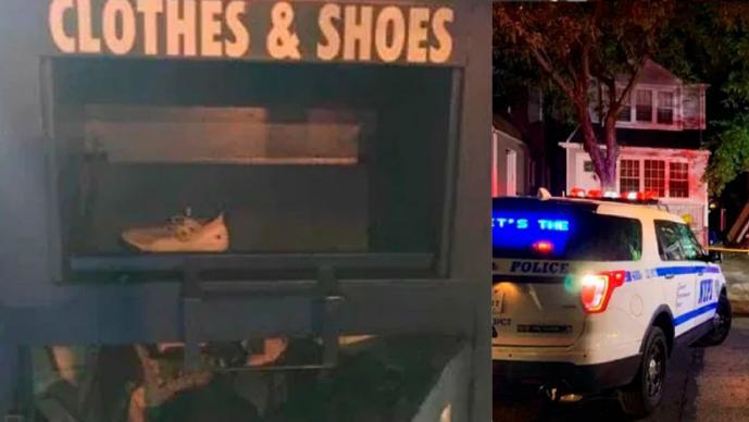 Mujer en situación de calle cae en buzón de donaciones y se queda atorada