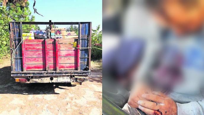 Repartidores de mercancía del Edomex son emboscados y acribillados en camino de terracería