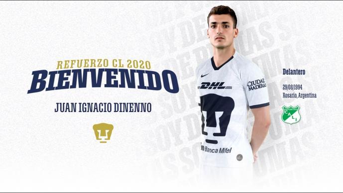Juan Ignacio Dinenno es nuevo jugador de los Pumas