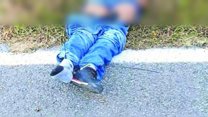 Cadáver de hombre acribillado y con la cabeza encintada es hallado por policías del Edomex