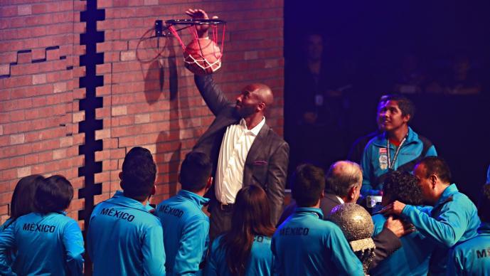 Kobe en un evento