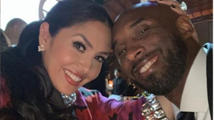 Kobe con su esposa Vanessa