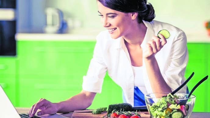 Buscan dietas en internet