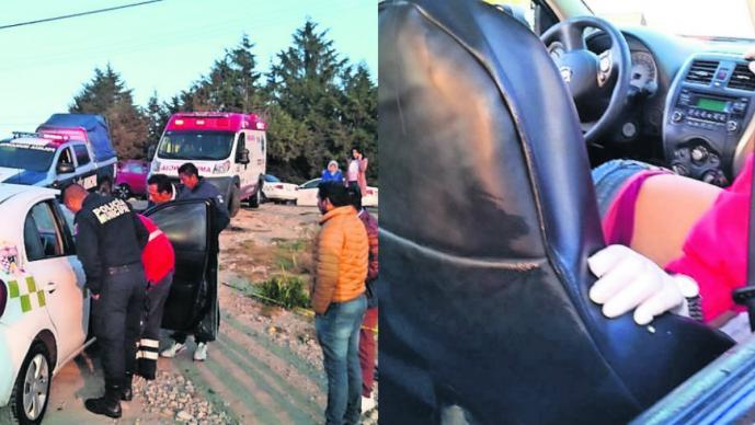 Vecinos hallan cuerpo ensangrentado de taxista dentro de su unidad, en Almoloya de Juárez