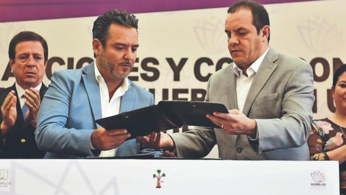 Cuauhtémoc Blanco entrega inmuebles al ayuntamiento de Cuernavaca