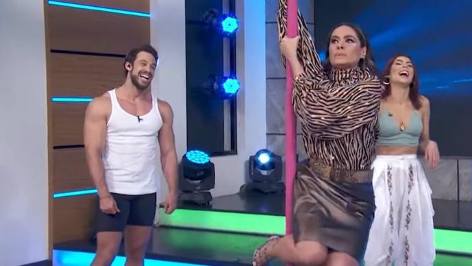 María León enseña a Galilea Montijo a bailar en el