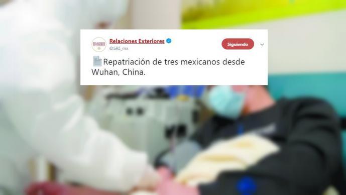 Repatrían a tres mexicanos desde Wuhan, epicentro del Coronavirus; serán aislados en sus casas