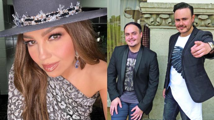 Tras cantar con Río Roma, Thalía sorprende a sus seguidores con vestido transparente