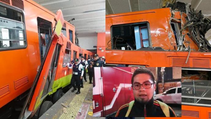 Usuario del Metro narra aterrador y misterioso choque de trenes en Tacubaya; hay 41 heridos