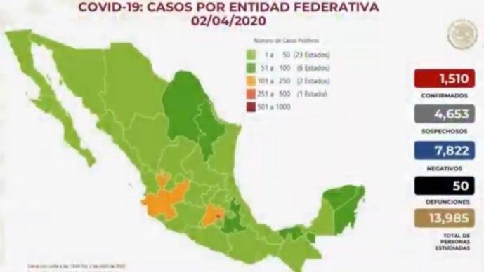 Conoce los cinco estados de la República que han registrado más casos de coronavirus
