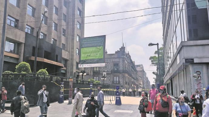 Así luce el Centro Histórico de la Ciudad de México, con la