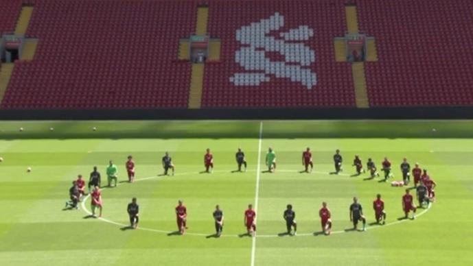 Anta el asesinato de George Floyd en EU, el Liverpool apoya los movimientos antiracistas