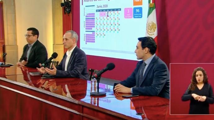 México rebasa las 11 mil 700 muertes y los 100 mil contagios por Covid-19, hoy 3 de junio