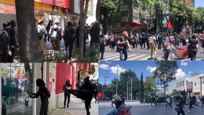 Embajada de Estados Unidos en México, vandalizada en protestas — George Floyd