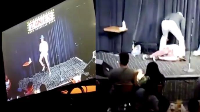 Comediante con Coronavirus se desmaya en pleno show