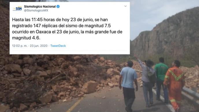 Reportan 147 réplicas tras sismo de 7.5 en Oaxaca; murió una persona, confirma Murat
