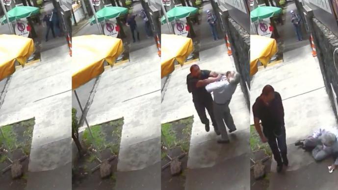 """Surge """"Lord Banqueta"""", hombre que avienta y deja en el suelo a transeúntes de la CDMX"""