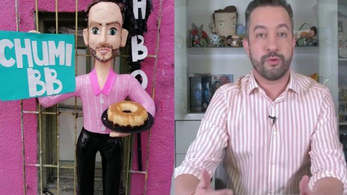 Chumel Torres ya tiene su piñata con palo de HBO y ésta fue su reacción al enterarse