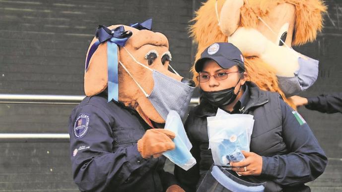 Con botargas, lanzan campaña para transitar sin riesgos por Covid-19 en Morelos
