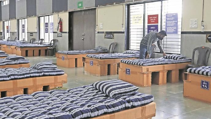 Empresario convirtió su oficina en un hospital para Covid-19, en India