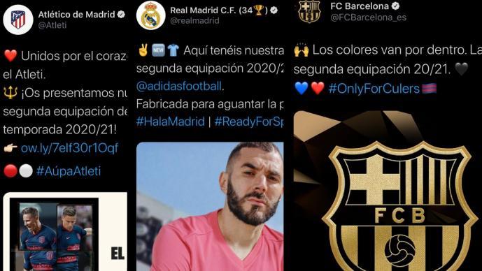 Real Madrid, Barcelona y Atleti revelan sus uniformes de visitantes