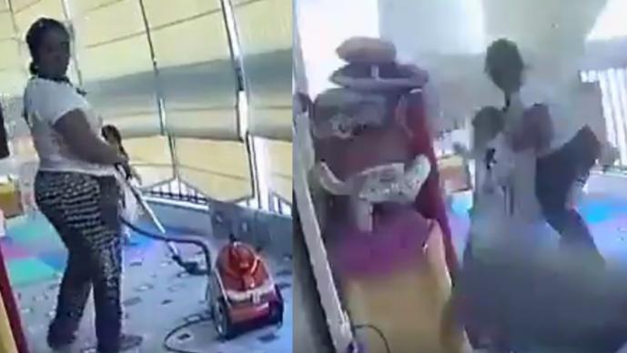 Empleada doméstica salva a niña de morir en explosión de Beirut, video captó todo