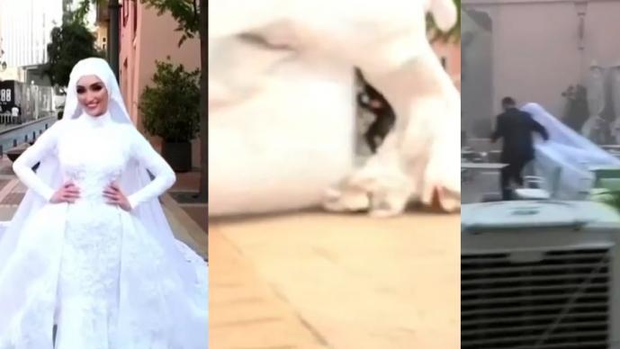 La historia oculta de la novia libanesa que se hizo viral en video de la explosión en Beirut