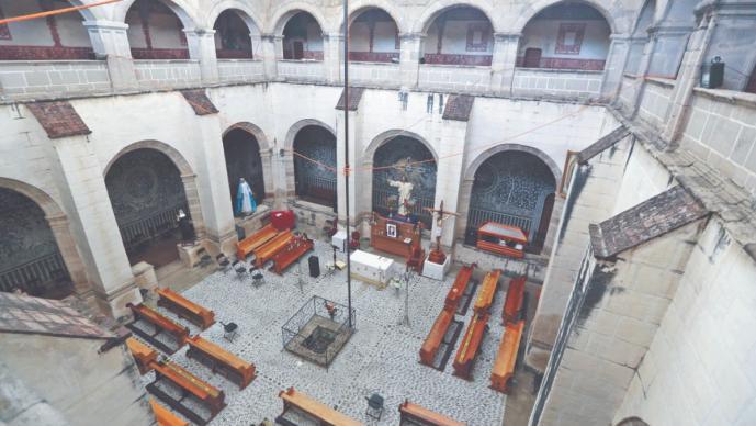 Convento de Malinalco aún conserva las heridas del sismo de hace tres años, en Edomex