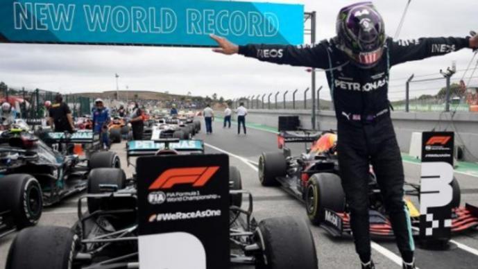 Hamilton bate récord de victorias de Schumacher, en el Gran Premio de Portugal