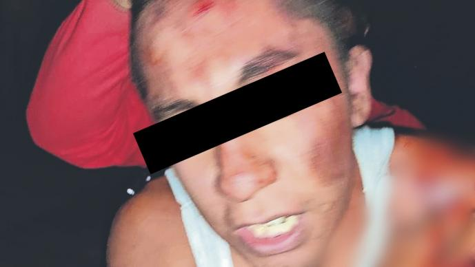 Vecinos le dan tremenda madrina a un asaltante en Morelos, lo exhiben en redes