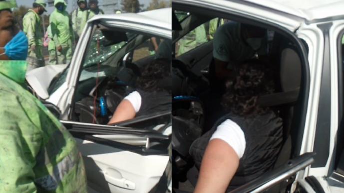 Choca auto con dos mujeres adentro en la CDMX, muere una y presuntamente tenía Covid-19