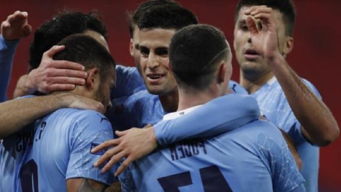 Manchester City se lleva ventaja en la ida de los Octavos de Champions vs el Monchengladbach