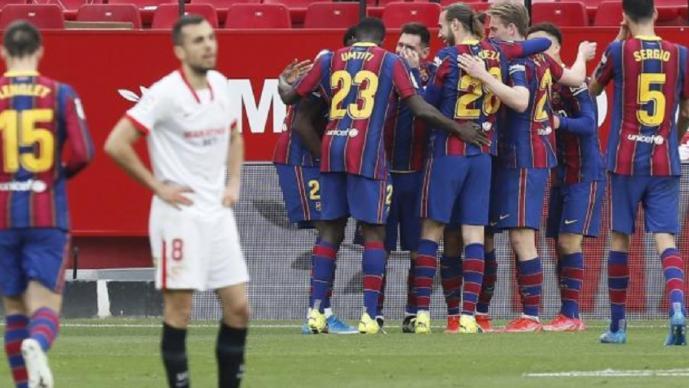 Barcelona derrota a domicilio al Sevilla