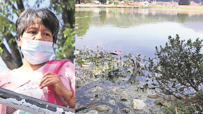 Vecinos denuncian contaminación por comerciantes en Laguna Salazar en Edomex