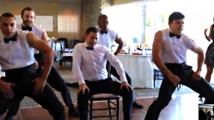 Sorprendente coreografía en una boda   VIDEO