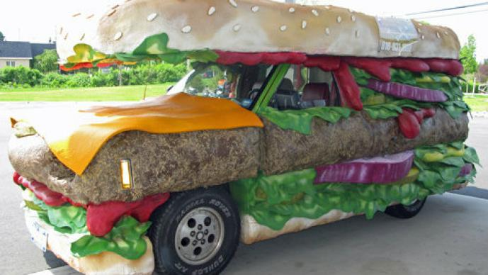 Carro, hamburguesa