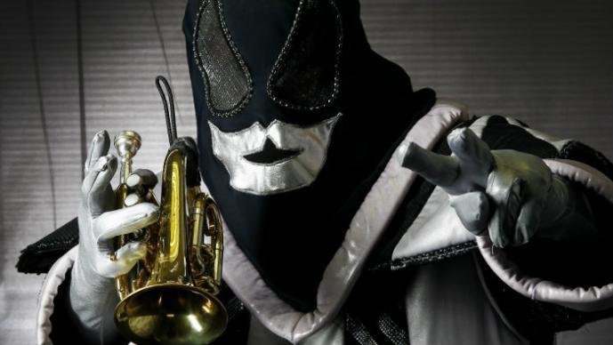 La máscara betmena sobre la persona