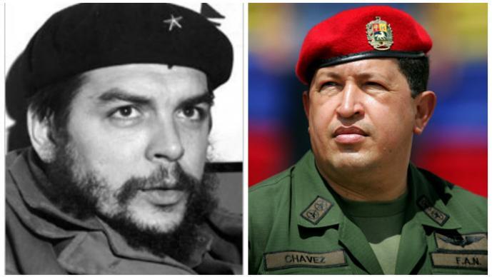 Ernesto Guevara y Hugo Chávez