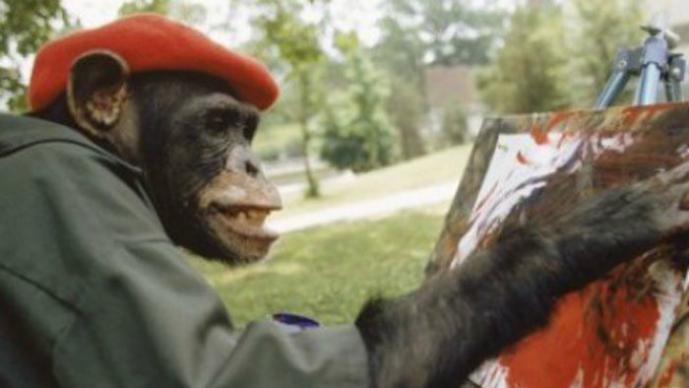 Brent, Chimpancé, pintura