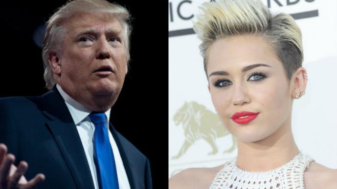 Donald Trump y Miley Cyrus