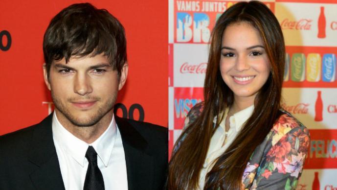 Ashton Kutcher sale de fiesta con la novia de Neymar