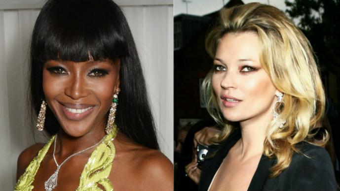 Kate Moss y Naomi Campbell disfrutan en topless sus vacaciones