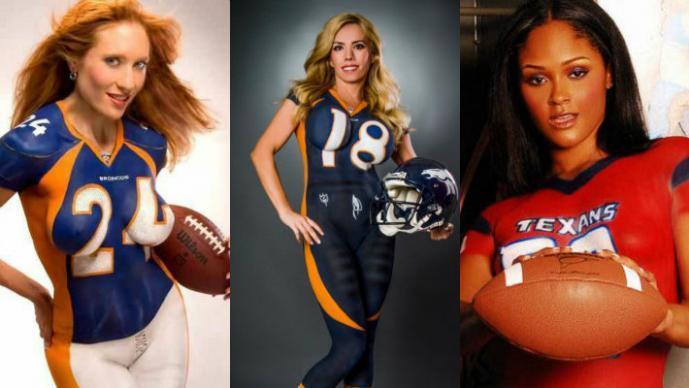 """Los sensuales """"bodypaint"""" tras el inicio de la NFL"""