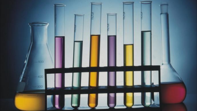Tubos de ensayo, química