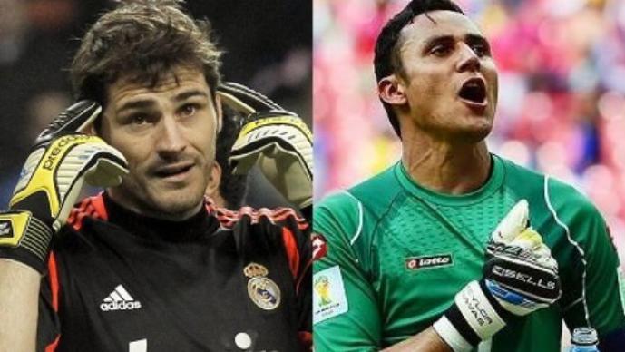 Casillas y Navas se confrontan en entrenamiento