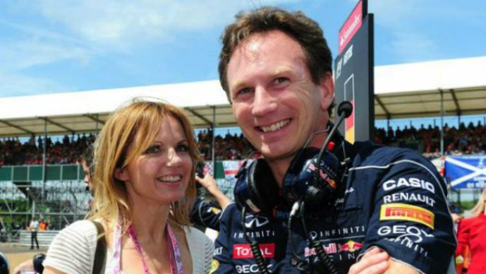 Christian Horner y  Geri Halliwell