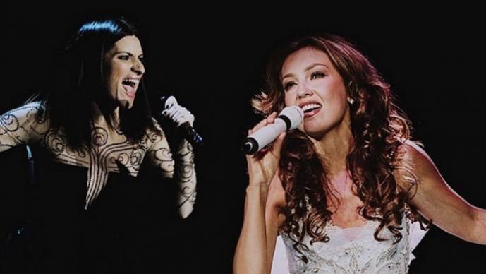 Laura Pausini y  Thalía