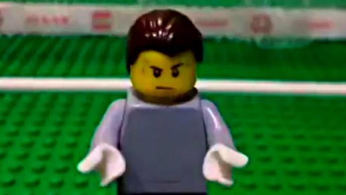 Lego recrea goleada de Alemania a Brasil | VIDEO