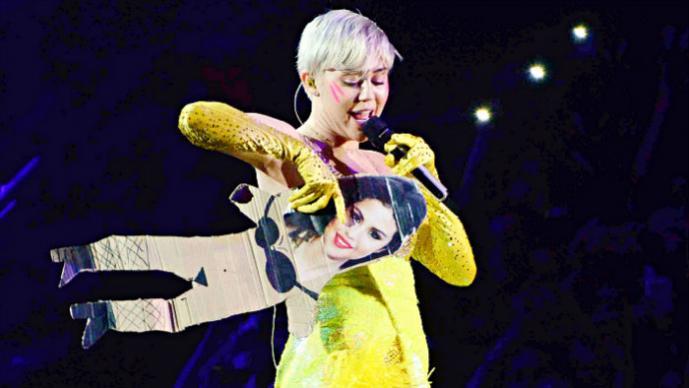 """Miley Cyrus """"destroza"""" Selena Gomez en pleno concierto"""