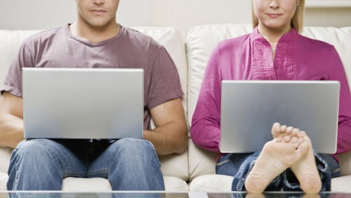 parejas en la web